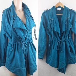 Soft Surroundings Cardigan Size Large Teal Color